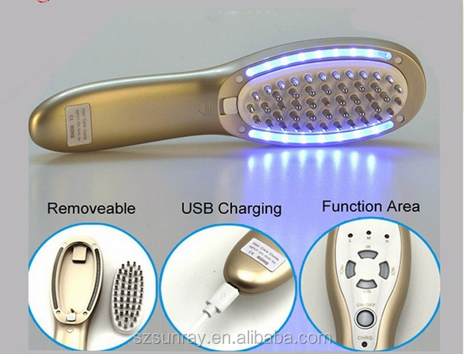 TAOBAO best selling home health products massage comb Infrared massage comb