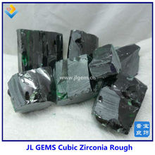 Green Cubic Zirconia Rough Uncut Synthetic Diamond For Sale Online