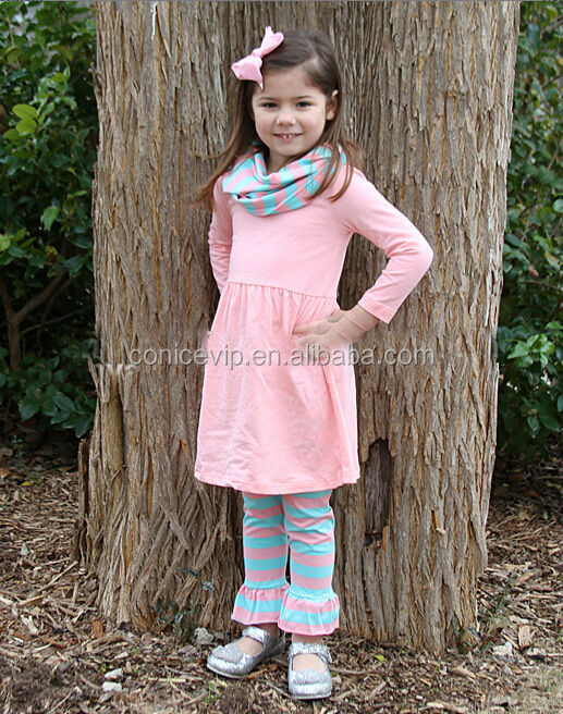 fantastic kid clothing pink dress and stripe ruffle pants sets toddler kids boutique clothing clothing set
