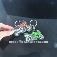 Active demand factory manufacture 100% non-toxic motorcycle plastic/soft pvc key ring