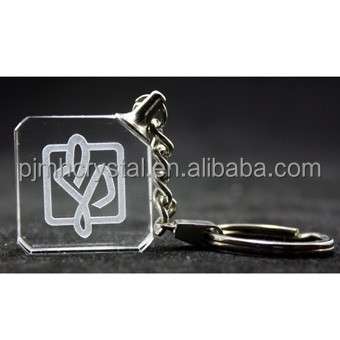 europe style crystal led key rings with logo MH-K0013