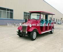 CE approve 72v 7.5kw 12 seats electric classic car 12 person Tour Bus Vintage Vehicle Electric Car Made in China