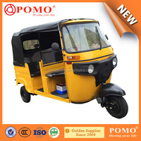 Bajaj Style Three Wheel Motorcycle For Passenger With Hydraulic Brake Oil System
