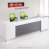 Executive Modern Design Office Reception Counter Table For 2 Person LHQ004