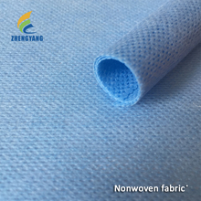Medical uses raw material blue mesh spunlace non-woven fabric 70%viscose+30%polyester