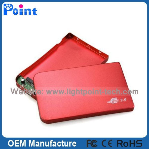 2.5 SATA External HDD HD Hard Disk Drive enclosure case