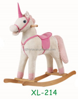 Unicorn Plush Rocking Horse Kids Riding On Toys Direct From Factory