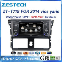 For toyota yaris/vios 2014 auto parts bluetooth car dvd gps navigation system with DVD/Radio/GPS/Bluetooth/3G/SD/USB/SWC