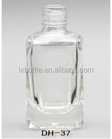 DH-37 square shape 13ml empty nail polish bottle design with fancy shape