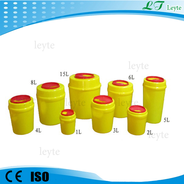 waste disposal round sharps container