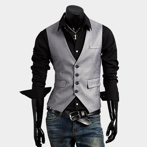 2014 High Quality Men's Vest Coat V-collar Slim Casual Vest Coat Male Waistcoat Business Suit Vest Jacket