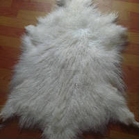 Long hair Mongolian curly raw sheep skin