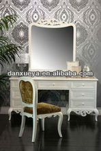 Solid Wood White Lacquer Bedroom Furniture Set Dresser With Mirror DXY-snow white#
