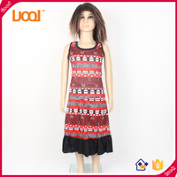 2016 Latest dress design for girls wear wholesale simple printed summer children dress