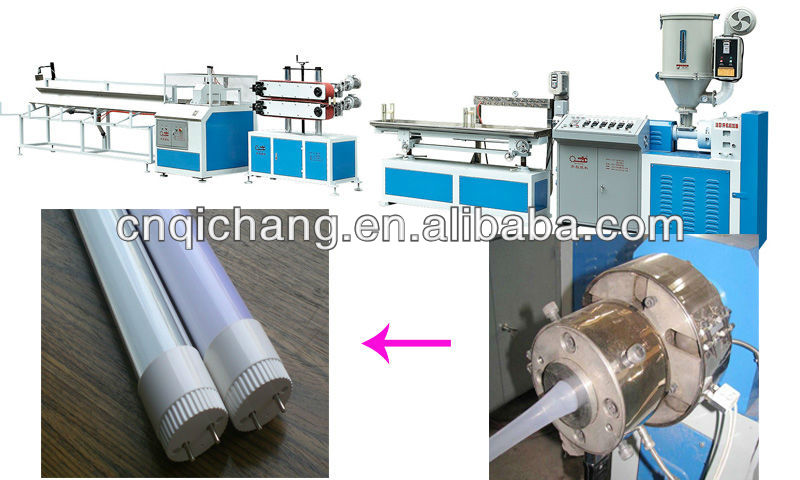 Energy-saving led lamp round tube SJ-45 single screw extruder