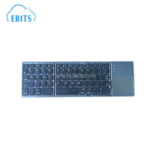 Top selling convenient super slim flexible bluetooth 3.0 wireless folding keyboard with touchpad for Windows Android iOS