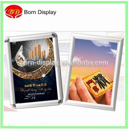 Aluminum Farme Back Wooden Board Mitred Corner Sliver Picture Frame Shapes with A1 A2 A3 A4 Size