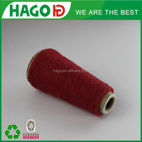 ne20s regenerated recycled mill end yarns 100% spun polyester yarn manufacturer