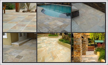 Natural slate decorative outdoor stone floor tiles
