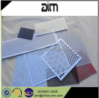 Decorative facade panel perforated metal mesh