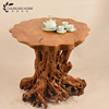 Custom-made wooden root carving center table home furniture