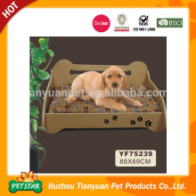 Textile Fabric Velvet Luxury Wooden Dog Bed for Sale