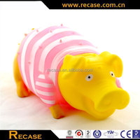 Custom bath vinyl pig toy anti stress pig toys cute dog squeezing pig toys