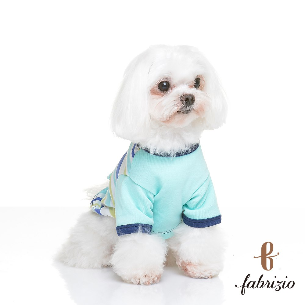 Pet Products wholesale Casual Multi-size custom print Ribbed Short Sleeve Engineer Stripe MIT puppy/kitten