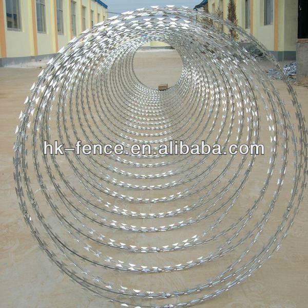 BTO-22 Hot Dipped Galvanized Concertina Razor Barbed Wire