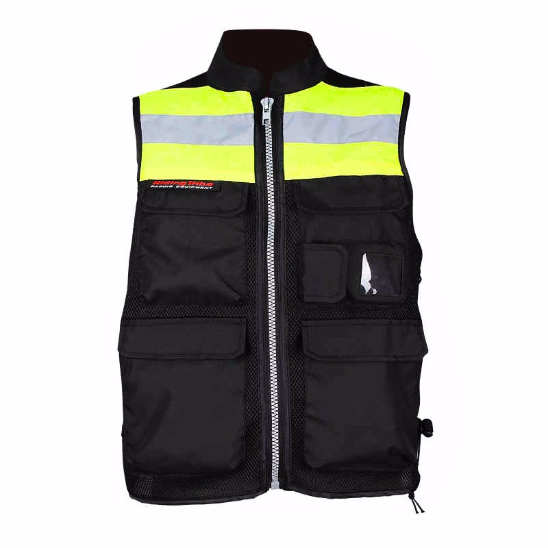 Motorcycle Reflective Vest Quick Dry Motorcycle Clothes Giacca Moto Uomo Motorbike Vest EVA Back Armor Protector JK-32