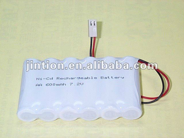 Ni-CD AA 600mAh 7.2v rechargeable Battery packs