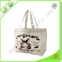 Cotton cloth bag For shopping or travel carry cotton string bag