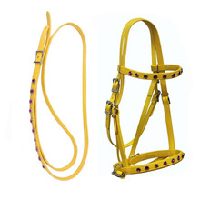 Endurable rhinestone horse bridle with rein