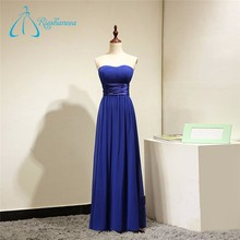 Sashes Pleat Chiffon Long Royal Blue Bridesmaid Dress Patterns