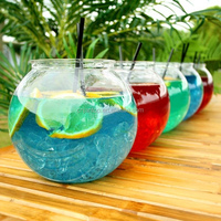 3000ml Acrylic Cocktail Plastic Fish Bowl Glassware