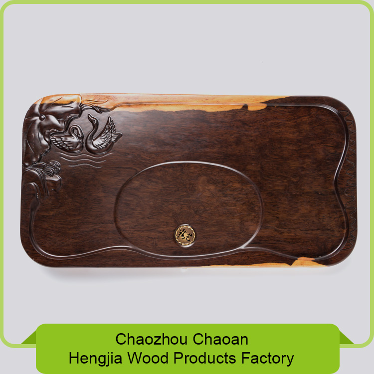 Unique design wood tea tray, antique tea serving tray, tea tray set