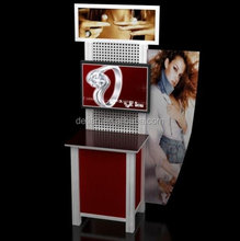 2014 new design acrylic printing and cheap portable cosmetic exhibition