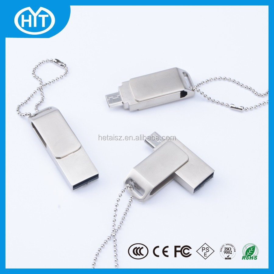 32GB 16GB 8GB OTG MINI Smart phone usb flash drives pen drive Tablet PC Dual plug metal OTG usb
