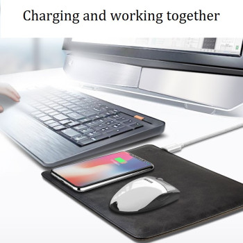 2018 New Wireless Mouse Pad Charger 2 in 1 QI Fast Wireless Charging for iPhone X/ 8/ 8 Plus S9 S9+ S8 S8+ Fast Wireless Charger