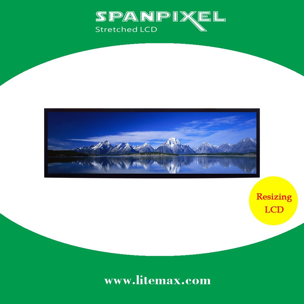 LITEMAX 49 inch 500 nits brightness sunlight readable outdoor industrial stretched bar LED LCD display monitor