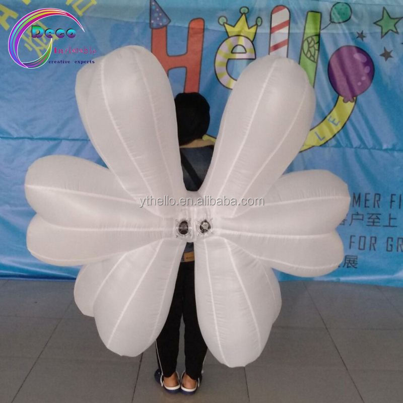 Cool nightclub / bar performance use inflatable wing costume