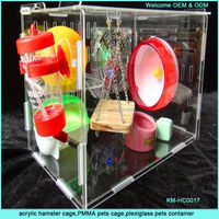 Acrylic Hamster Pet Cage for Small Animals