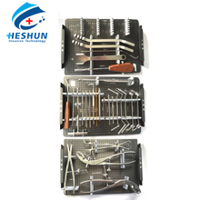 simplified basic orthopedic surgical large fragment locking plate instrument set