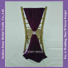 SH043H purple chiffon chair sash buckle
