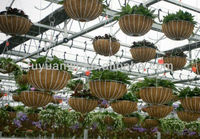 galvanized and pvc coated metal iron wire hanging basket with coco liner