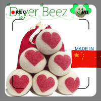 100% New Zealand wool dryer ball using to decoration, handmade, pet toy etc