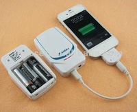 portable travel 3 AA battery emergency charger for iphone/mobile phone