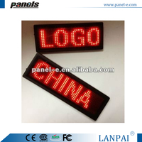 (Direct Manufacturer) Fashional led name badge ,led mini displayled battery sign, led flashing message board for easter Name Tag