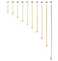 16mm 19mm 25mm 32mm 38mm 44mm Gold plated sharp eye pins