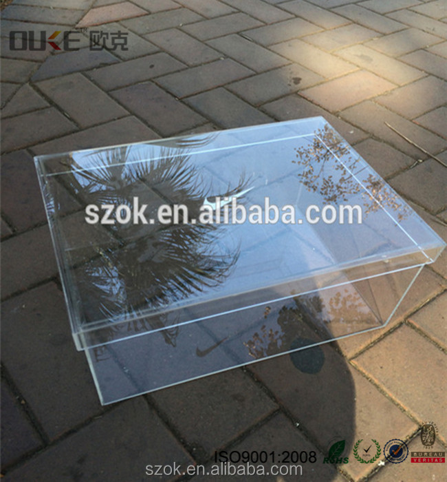 Wholesale price clear empty nike & adidas sports shoes acrylic shoe boxes